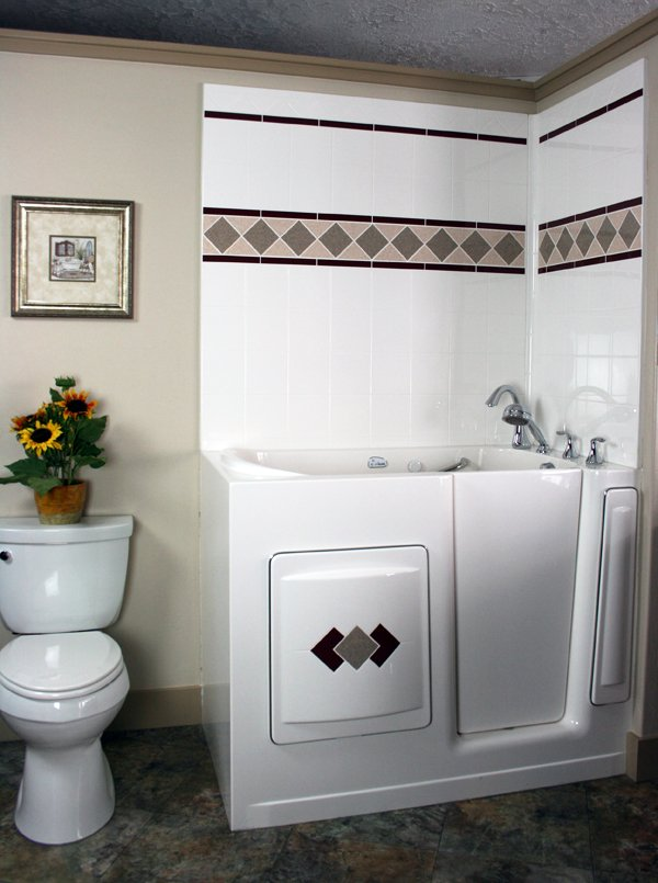 Walk in tubs by best bath Small bathroom remodel for elderly
