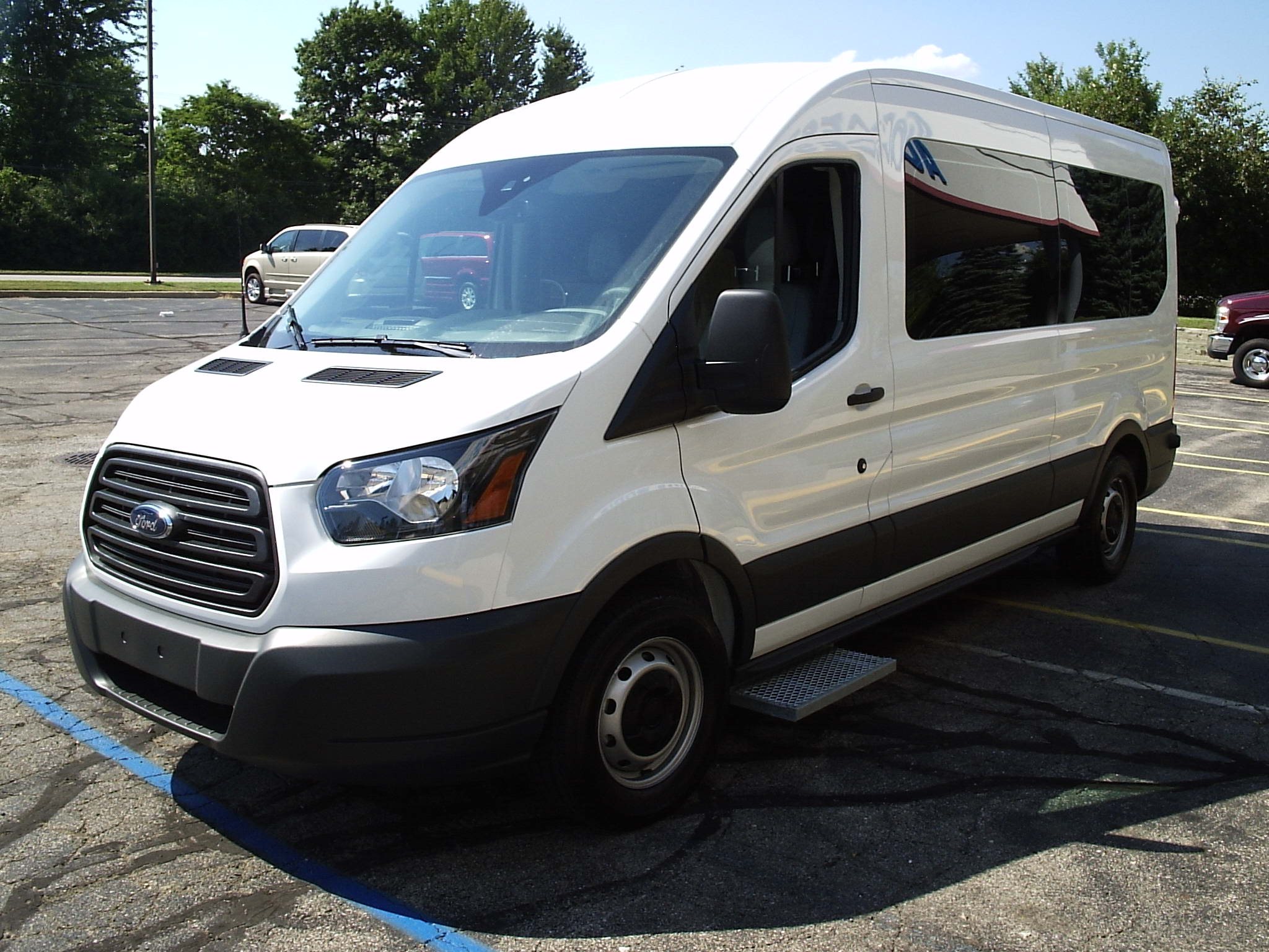 2016 ford transit x2c white